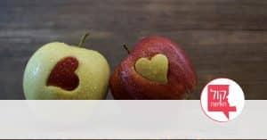תפוחים עם לבבות